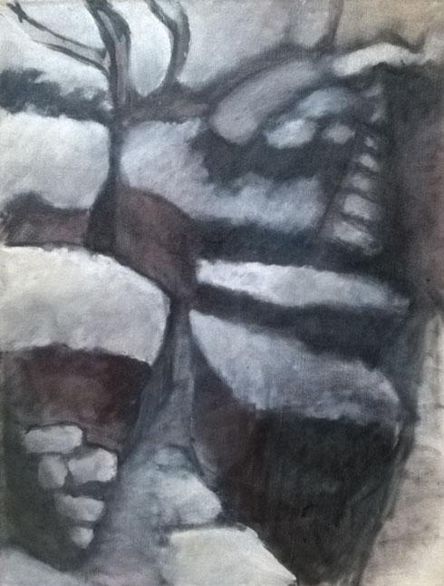 Les buis blancs, 1990, 61x46 cm.