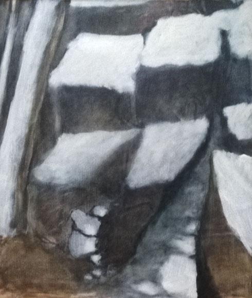 Les buis blancs, 1990, 65x54 cm.