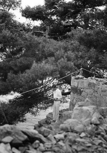 Georges Guinot sur l'île de Korcula.