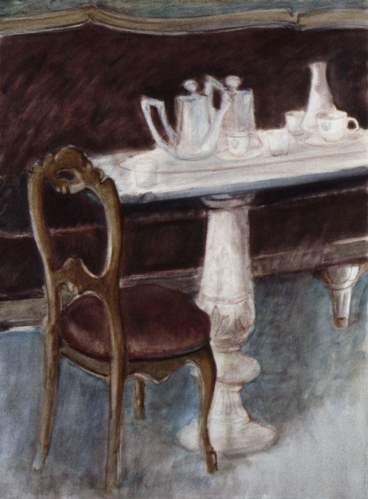 Venise, café Florian, 106x78 cm.