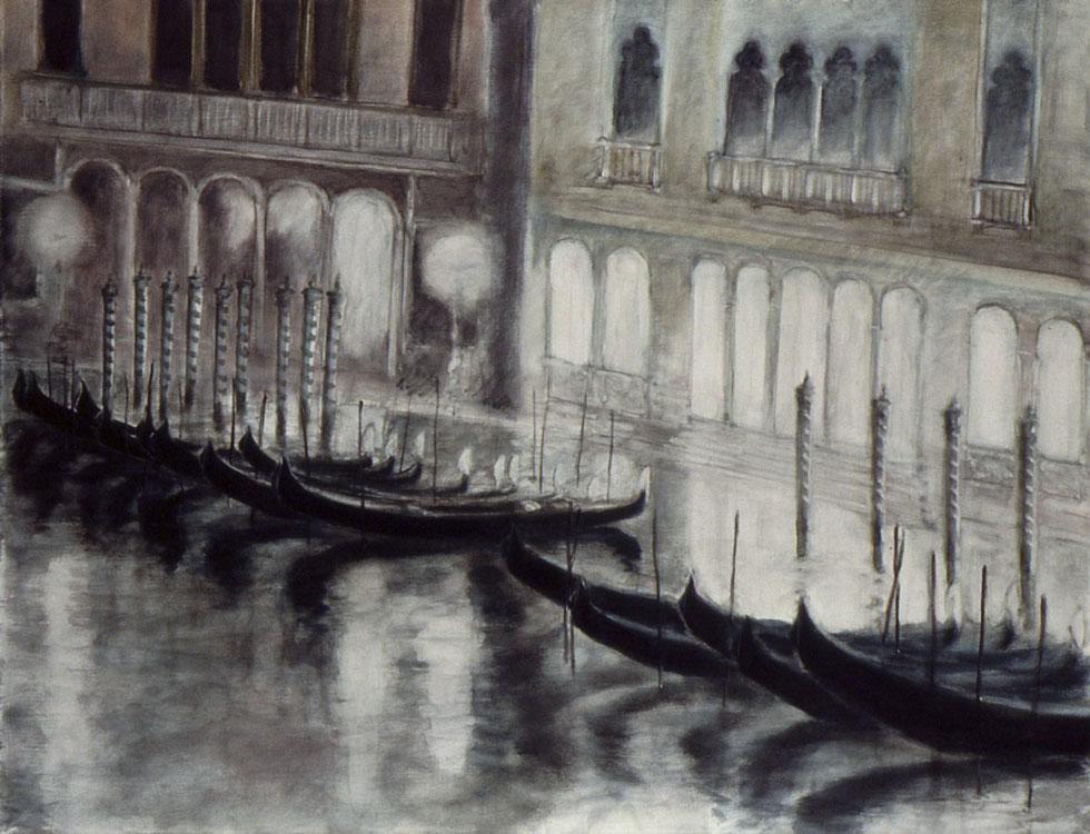 Le Grand Canal, la nuit, 1991, 89x116 cm.