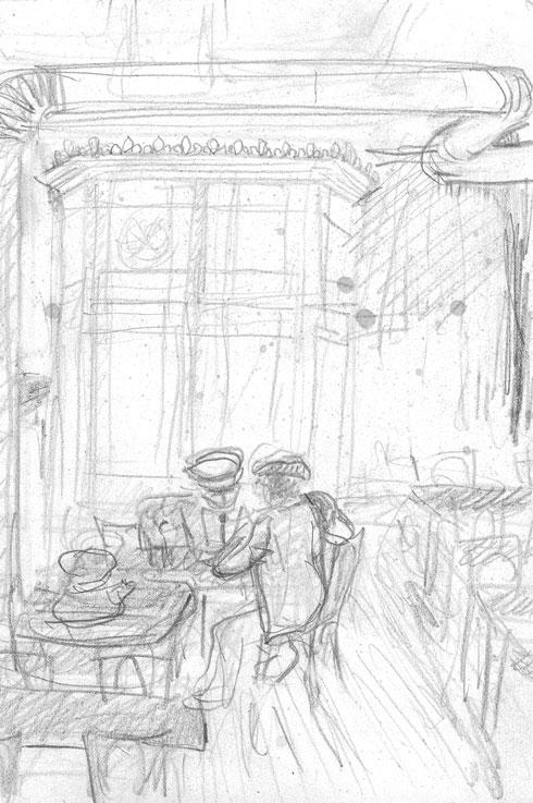 drawings Café de l'Univers