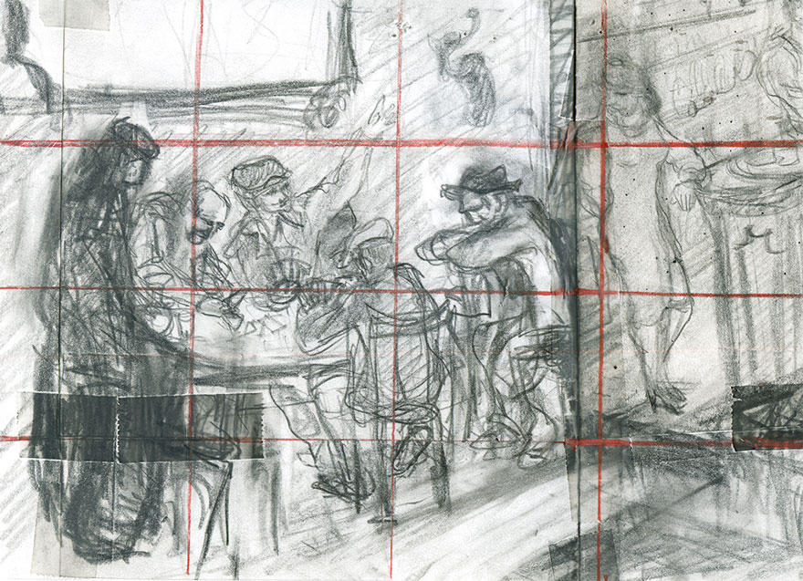 Preparatory drawings - Belote.