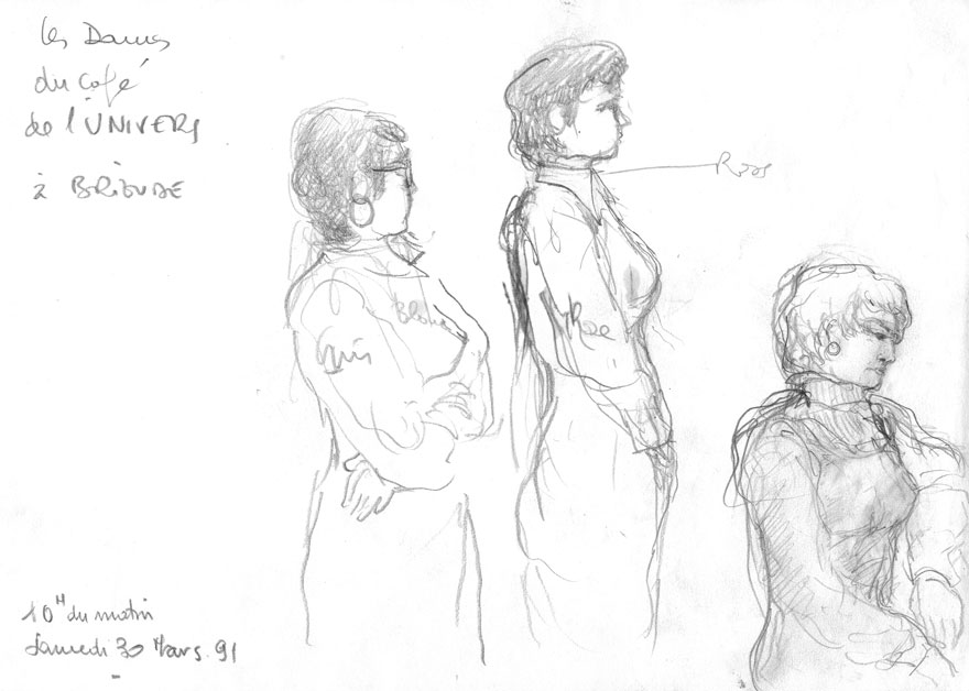 Drawings of the ladies of the