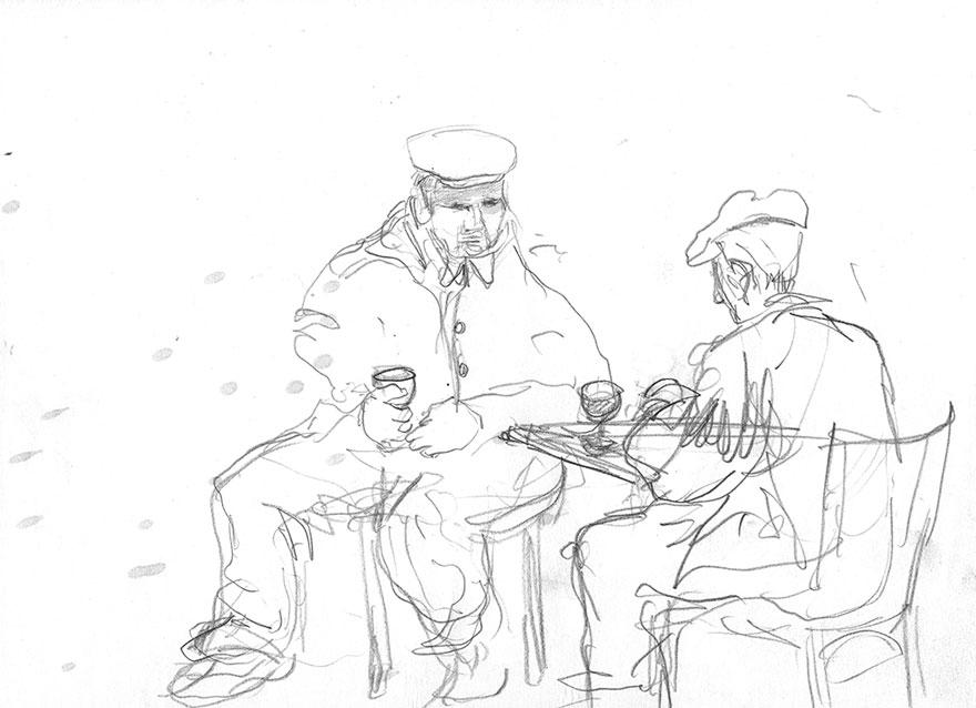 drawings Café de l'Univers.