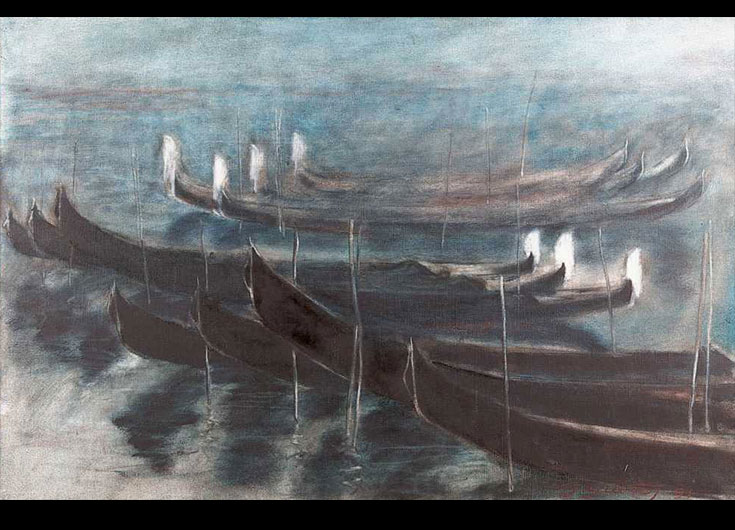 Mist on the lagoon, 1991, 60x90 cm.
