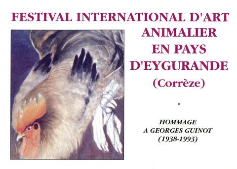 Dépliant exposition festival d'art animalier en pays d'Eygurande, 1998