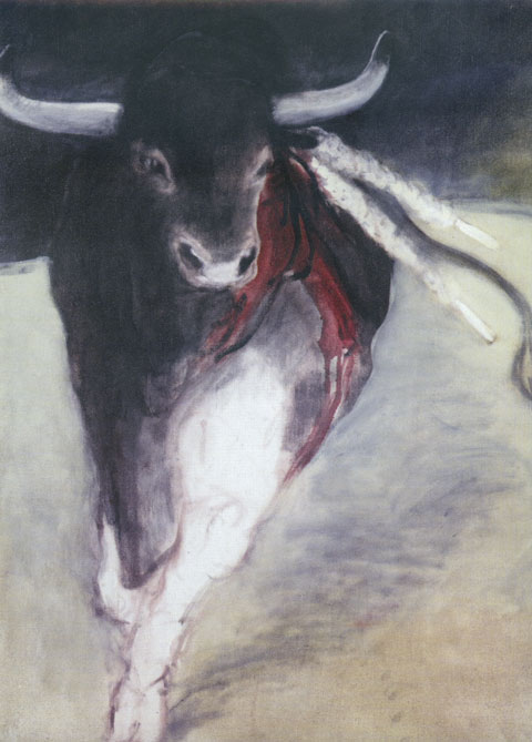 Dépliant exposition Toros, galerie des Arènes, Nimes, 1998.