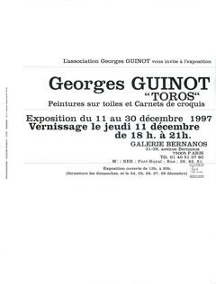 Dépliant exposition Toros, galerie Bernanos, Paris, 1997.