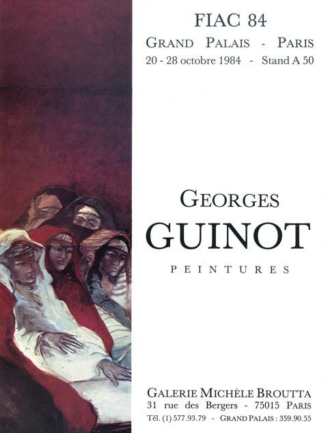 Dépliant exposition Voyage au hoggar Galerie Michèle Broutta, FIAC 1984, Le Grand-Palais, Paris