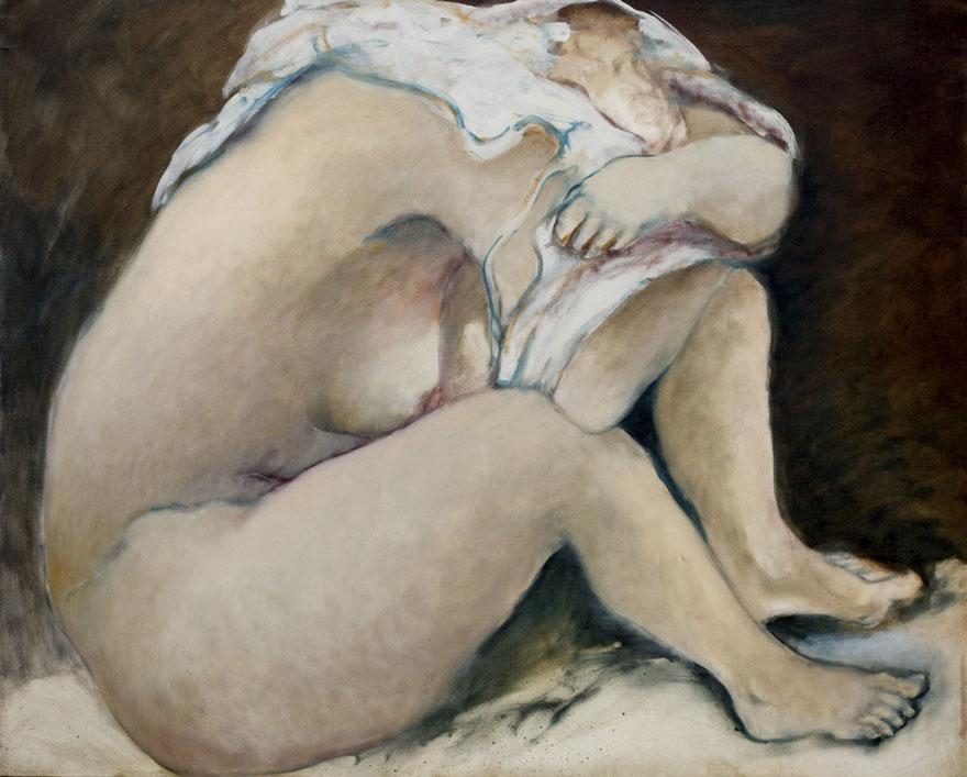 Dernière pudeur, 1987, 105x130 cm.