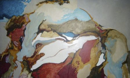 L'étreinte, 1969, 89x146 cm.