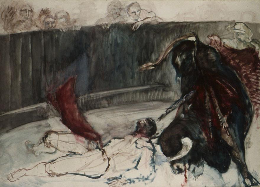 Le Torero blessé, 154x218 cm.