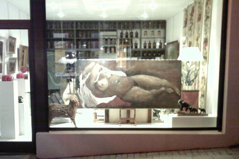 Exposition Les Grands Nus, Galerie Le Jeu de l'Oie, Biarritz, 2009.