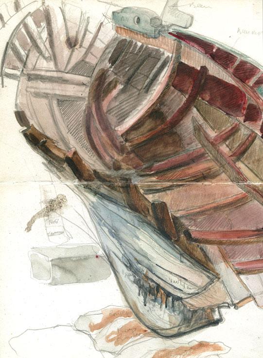 Barque échouée en couleur